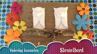 Vaderdag knutselen een houten sleutelbord