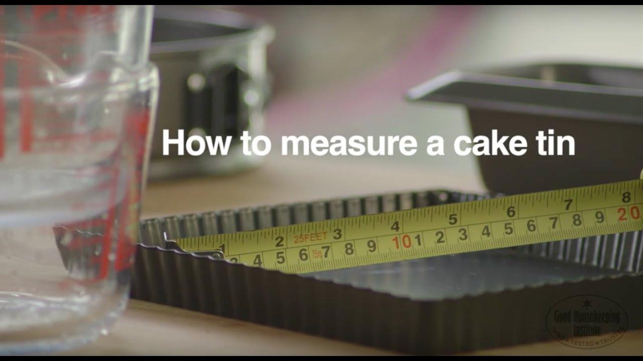 How To Measure A Cake Tin | Good Housekeeping UK