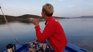 Single wave on calm sea