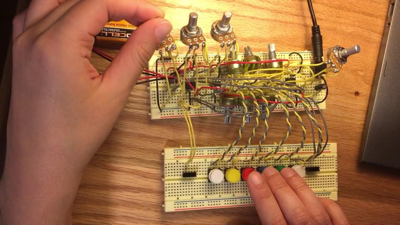 Analog Electronics Final Project - synthesizer - YouTube