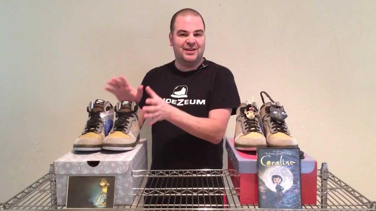 buy popular e51e1 b5f3f ShoeZeum Nike Laika Coraline Dunks - YouTube