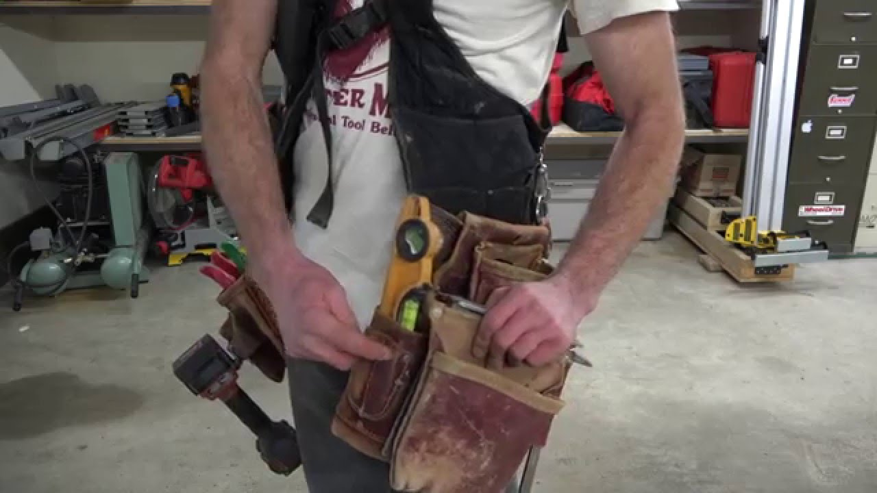 the best tool belt everor not occidental leather suspendavest vs conventional toolbelt youtube