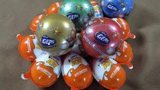 Kinder Joy Surprise Eggs With Gems Ball Panda Unboxing