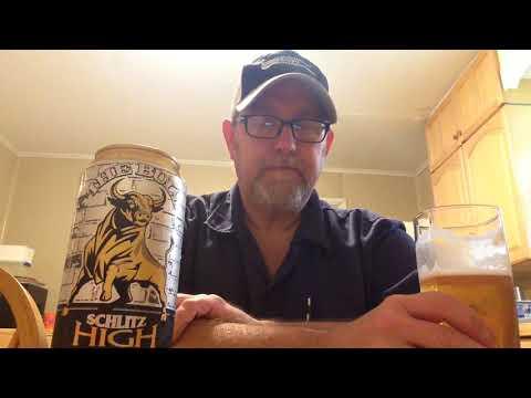 """The Beer Review Guy # 721 Schlitz High Gravity Malt Liquor """"The Bull"""" 8.5%abv"""