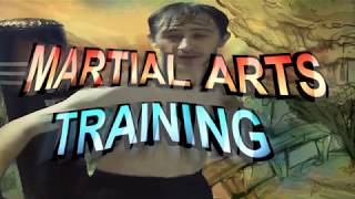 MARTIAL ARTS PUNCHING BAG TRAINING SESSION WITH RICHARD