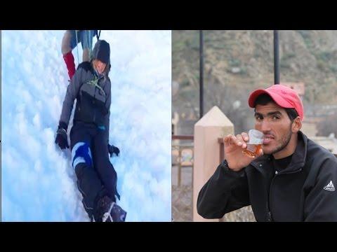 حصري الشاب الذي أنقذ السائحة السويسرية التي سقطت من 900 متر بجبل توبقال ...