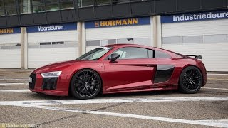 Audi R8 V10 Plus w/ MHP Performance Exhaust - Start Ups, Revs, Fly-by