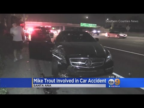 Mike Trout OK After Car Accident On 55 Freeway