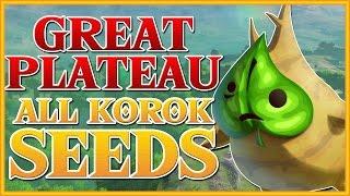 Zelda Breath Of The Wild All Korok Seeds Great Plateau Youtube