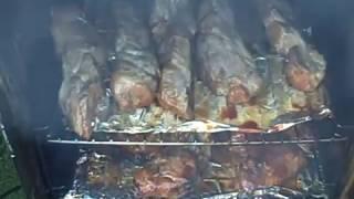 "Soulful Sunday Supper ""smoked Ribs N' Chicken, Jambalaya N' Butta Cobbed Corn"" 8 9 15"