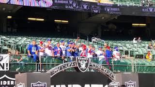 Giants fans chant Eli Manning