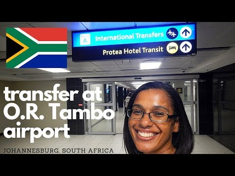 How to transfer international flights | Johannesburg airport, South Africa