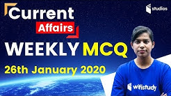 7:00 AM - Weekly Current Affairs MCQ by Krati Ma'am | 26th January 2020