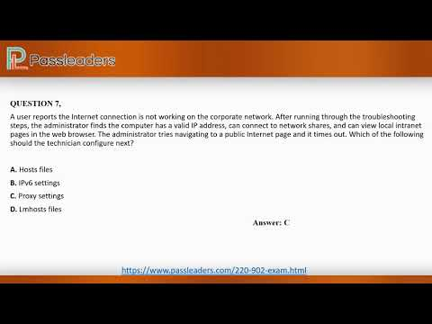 220-902 - CompTIA Real Exam Questions - 100% Free | Passleaders