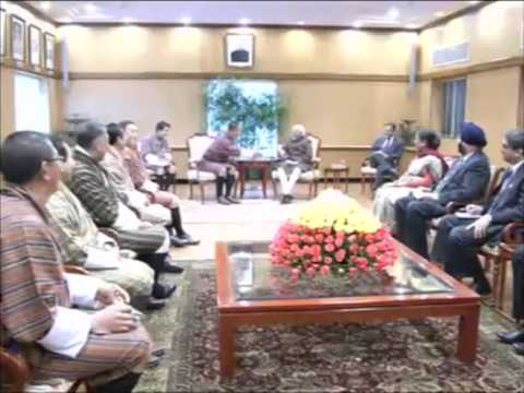 14,Jan 2015 - Bhutan PM Tobgay meets India's Vice President to boost ties