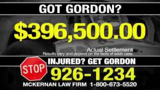 Baton Rouge Car Wreck & Trucking Attorney - GORDON MCKERNAN - Commercial - Stop Don't Sign!