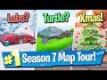 Download Fortnite Season 7 Map Changes / Tour (Snow, Giant Turtle + Risky Flattened?!)