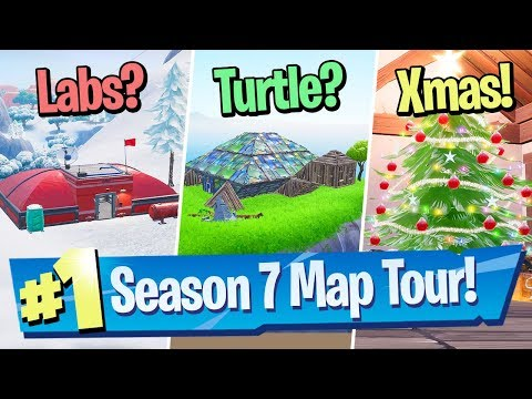 Fortnite Season 7 Map Changes / Tour (Snow, Giant Turtle + Risky Flattened?!)