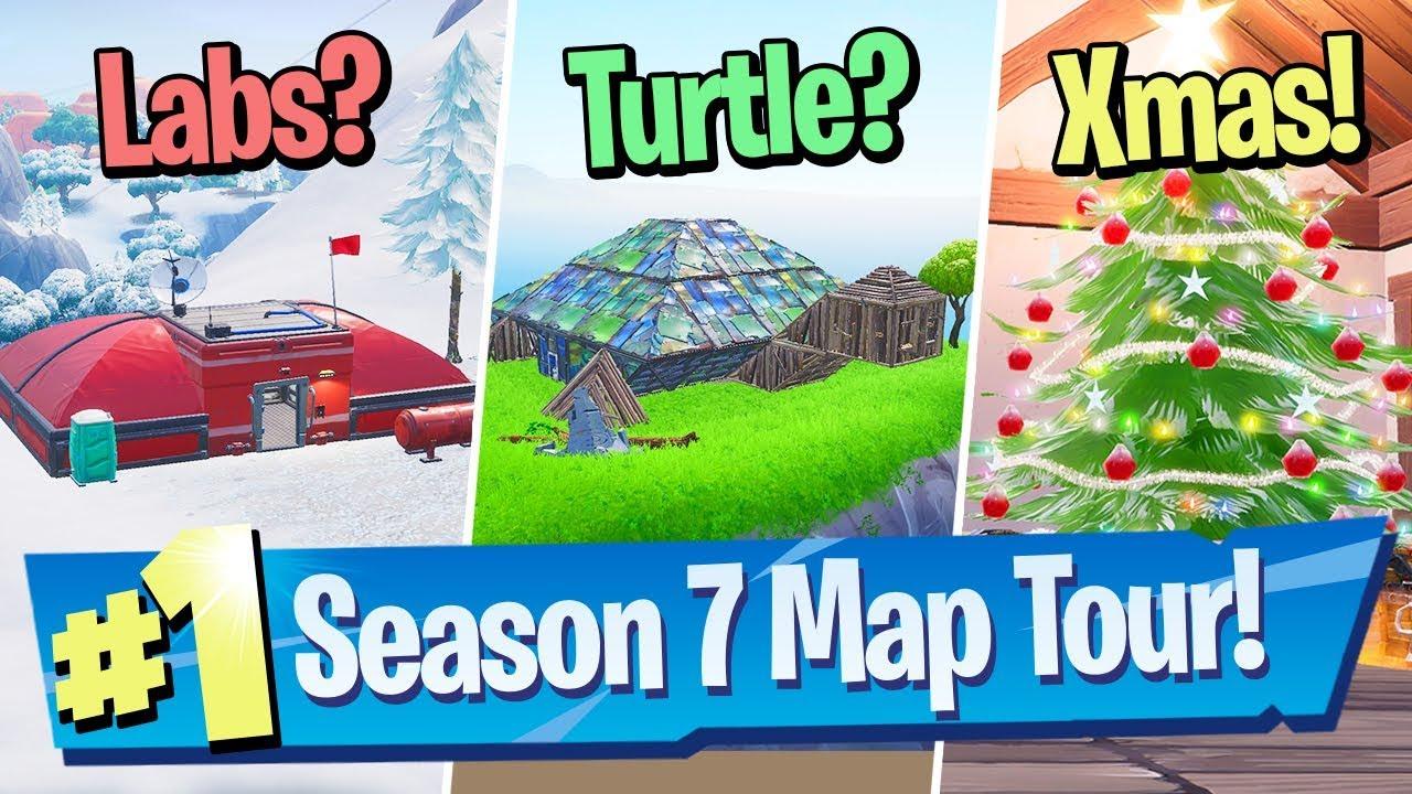 Fortnite Season 7 Map Changes Tour Snow Giant Turtle Risky