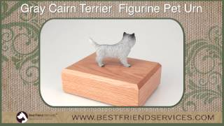 Gray Cairn Terrier Figurine Pet Urn