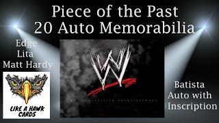 20 auto WWE memorabilia piece - Batista with inscription! Edge, Lita, Matt Hardy!
