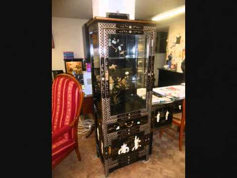 meubles chinois laqu s asiatiques youtube. Black Bedroom Furniture Sets. Home Design Ideas