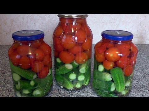 Как замариновать огурцы и помидоры