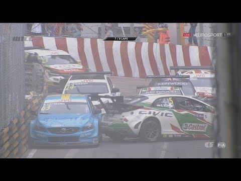 WTCC 2017. Race 1 Macau Grand Prix. Pile Up