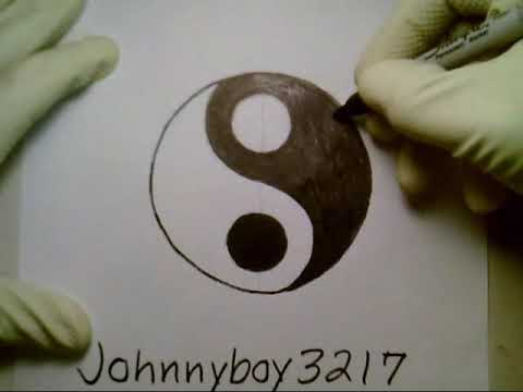 Yin Yang Symbol How To Draw Sign 2 Step By Step Doodle Sketch Easy