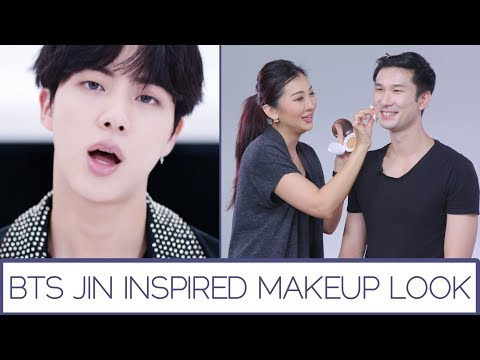 BTS Jin Inspired Makeup Look