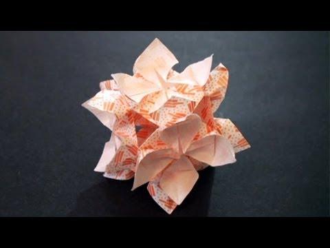 Origami kusudama flower ball youtube origami kusudama flower ball mightylinksfo