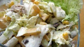 Салат 4 вкуса из куриных потрошков  Пошаговый рецепт с фото