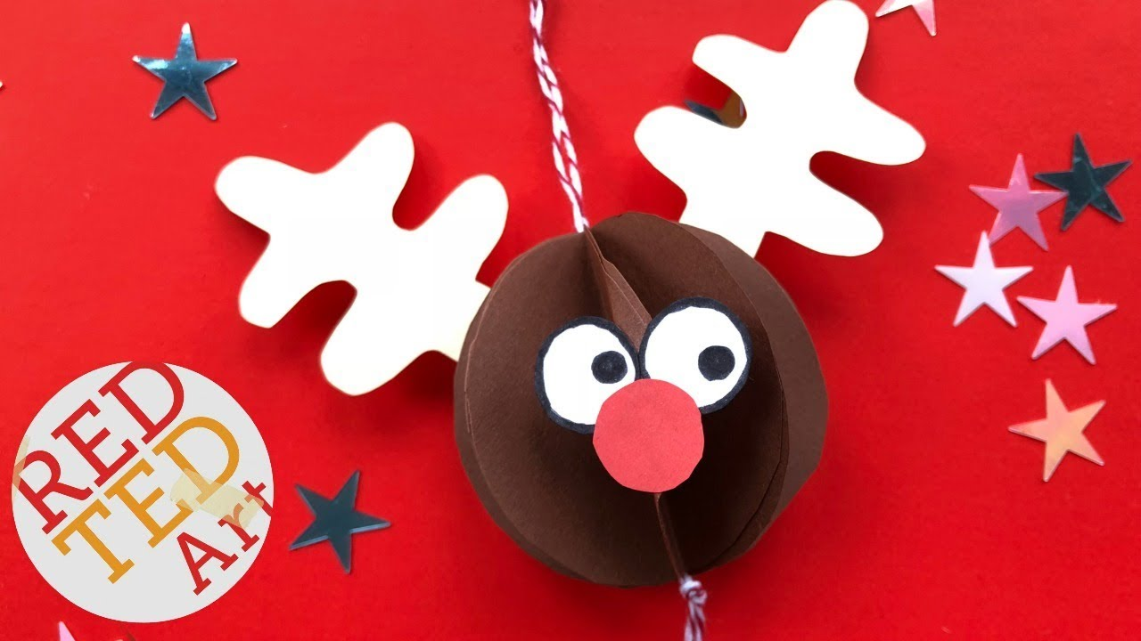 easy rudolph ornament diy no printables paper crafts diy christmas ornaments from paper - Rudolph Christmas Decorations
