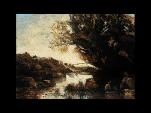 Study after: Camille Corot – Memory of Lake Nemi Tonalist Landscape Oil Painting
