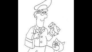 Postman Pat brought a letter. How to draw a easy? Почтальон Пэт принет письма. Как нарисовать?
