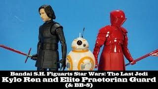 S.H. Figuarts Kylo Ren, Elite Praetorian Guard, and BB-8 Star Wars The Last Jedi Bandai Review