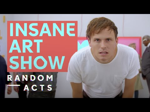 Eric Wareheim art gallery meltdown | Dot Net by Ben Jones + Battles | Short | Random Acts