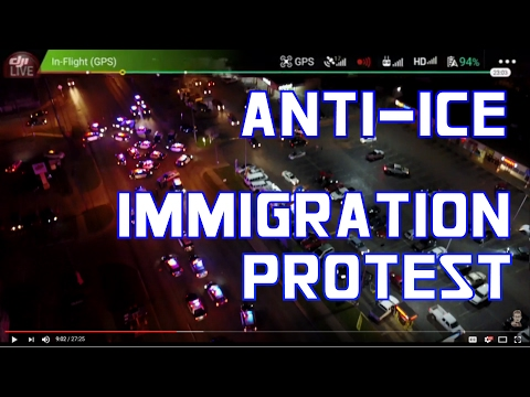 🔴 Trump Immigration Protest N.Lamar and Rundberg Austin TX (Drone footage)