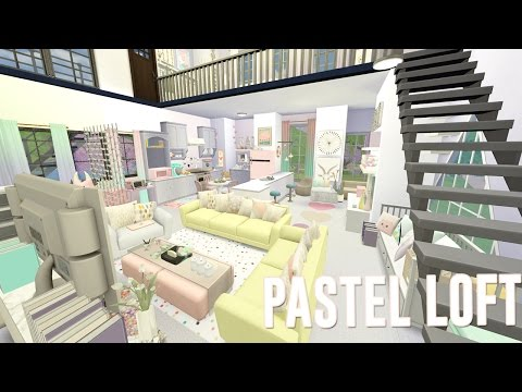 Sims 4 || SPEED BUILD: Let's Decorate - PASTEL LOFT