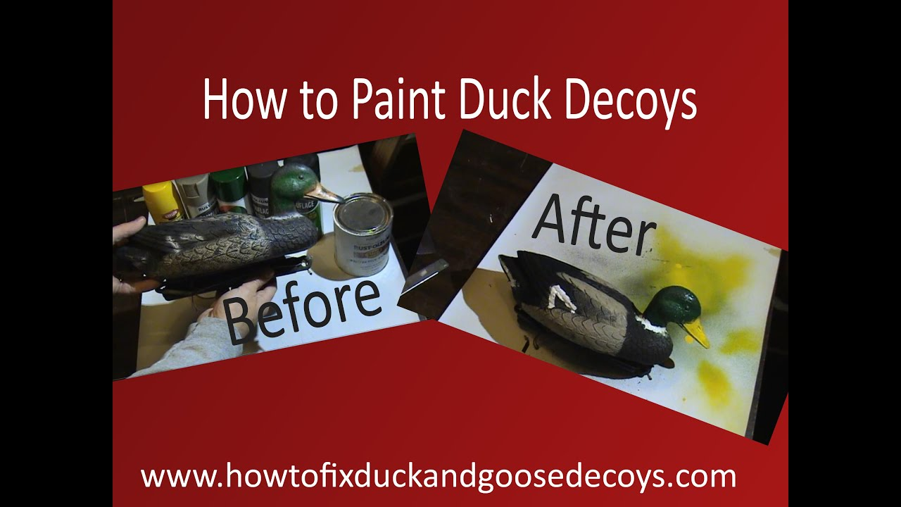 How to Paint Duck Decoys  FREE Printable Instructions