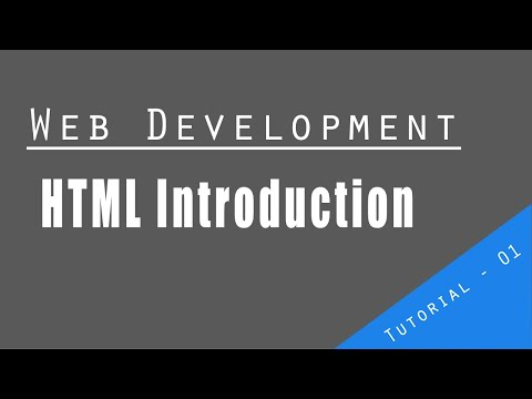 Web Development Tutorial | Html Introduction | How To Create HTML Basic Page In Notepad in 3min thumbnail