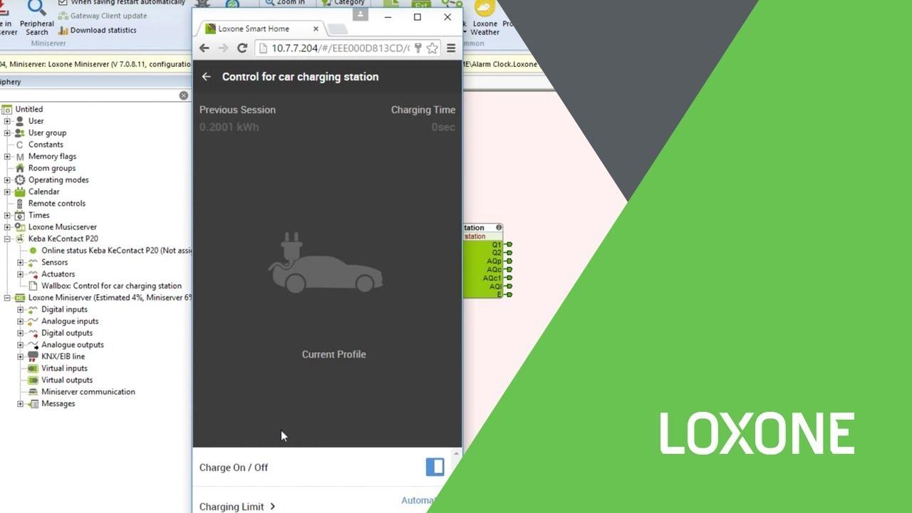 Loxone Config 7 Wallbox Youtube