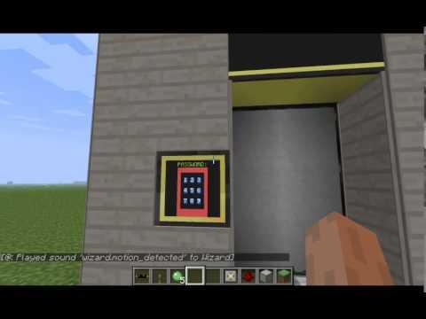 Minecraft Computercraft Supreme Security Door Youtube