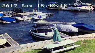 Boat Accident Caught On Cameras installed by VP Security... Sunday Fun Day on Lake Hopatcong