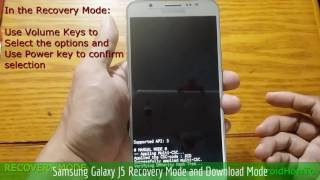 Samsung Galaxy J5 Recovery Mode and Download Mode
