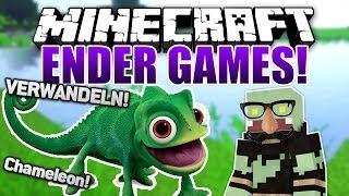 EPISCHE RUNDE! Verwandeln als CHAMÄLEON - Minecraft ENDER GAMES SERIE #25 | ungespielt