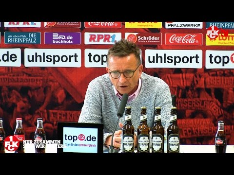 Pressekonferenz vor dem Spiel beim Karlsruher SC
