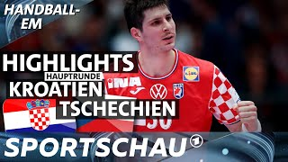 Spannung bis zum Schluss: Highlights Kroatien gegen Tschechien   Handball-EM   Sportschau
