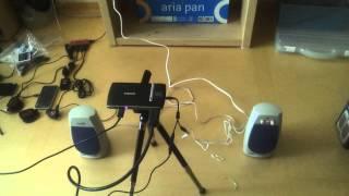 삼성 EAD-R10미니 빔프로젝터로 영화보기
