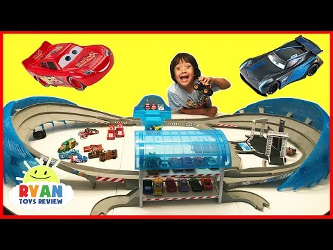 Thumbnail: Disney Cars 3 Movie Toys Biggest Race Track Ultimate Florida Speedway Play Set